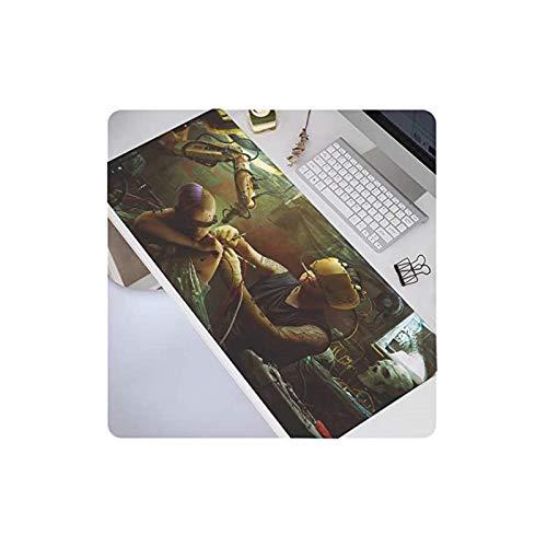 zhengshi Großes XL-Mauspad, Anime-Gamer, Gaming-Mauspad, Computerzubehör, große Tastatur, Laptop, Schreibtischunterlage, verdickt, rutschfest, wasserdicht, Punk-Welt-5