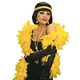 Fluffy Feather Boa Strip Dressup Costume Party Wedding Decoration,Party Theme Feather Boa (Yellow)