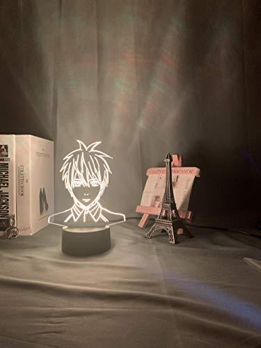 Anime Basketball Kuroko Tetsuya Figura LED luz nocturna para niños niños niños dormitorio manga baloncesto regalo lámpara de escritorio LED con interruptor táctil MDJK
