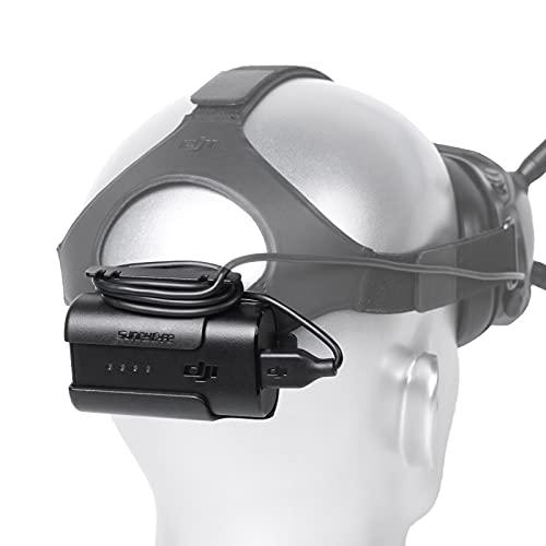 Honbobo Batteriehalter Halterung für DJI FPV Brille V2, FPV Combo Drone Zubehör Batteriekasten Haken zurück Clip