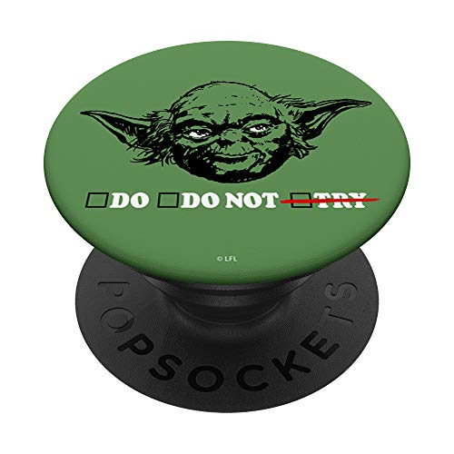 Star Wars Yoda Do Or Do Not Portrait PopSockets PopGrip: Agarre intercambiable para Teléfonos y Tabletas