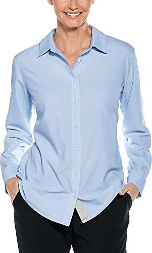 Coolibar UPF 50+ Women's Hepburn Shirt - Sun Protective (XX-Large- Light Blue)