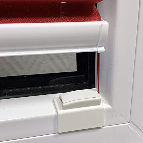 ps QUICKFIX Klebeplatten für Plissees mit Gelenk und integriertem Spannschuh (4 Stück) - Klebeträger - Plissees in der Glasleiste ohne Bohren montieren