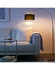 Nilight フロアスタンド フロアランプ フロアライト 電気スタンド アーチ型のフロアランプ 釣り形状フロアランプ ラック勉強/仕事/読書に適用 リビング&寝室用 照明 ブラック (黒)