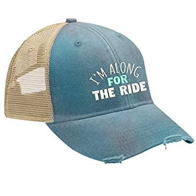 Piper Lou - I'm Along for The Ride Trucker Hat with Snapback Enclosure