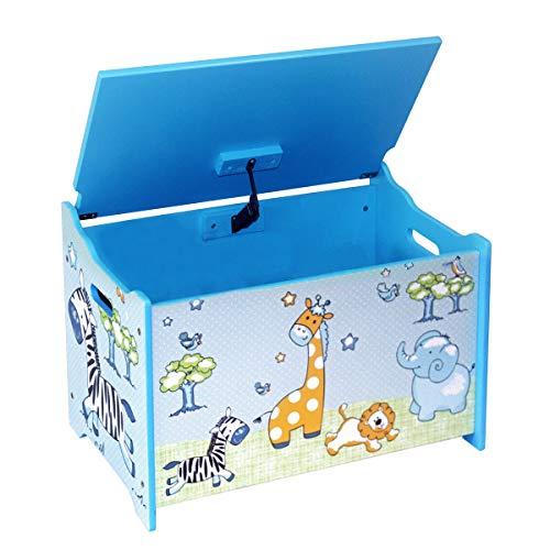 Bieco Spielzeugtruhe und Sitzbank | Aufbewahrungsbox Kinder | Holzkiste mit Deckel | Sitzbank mit Stauraum | Spielzeugkiste mit Deckel | Truhe Holz | Aufbewahrung Kinderzimmer | Spielzeugkiste Holz - 2