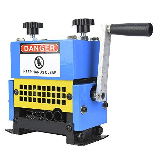 Máquina peladora de cables, pelacables portátil, manivela + taladro eléctrico, para pelar cables de 1,5 mm-20 mm Reciclaje de cobre chatarra