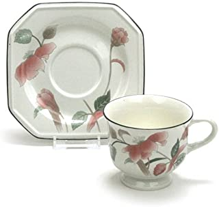 Silk Flowers by Mikasa, China Cup & Saucer