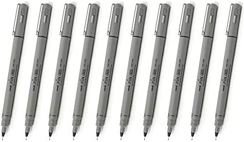 Uni Pin PIN-01A famous 0.1mm Fine Liner Pac Oil-based Ink Pens Fees free Drawing