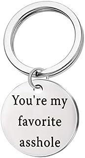 You're My Favorite Asshole Keychain Key Ring Valentines Day Birthday Christmas Gift for Husband Boyfriend Gift