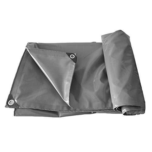 Bâches BWZF Tarpaulin Waterproof Heavy Duty - Feuille de bâche Grise Universelle - Couverture de qualité supérieure en bâche 500g (Taille : 4X6m)