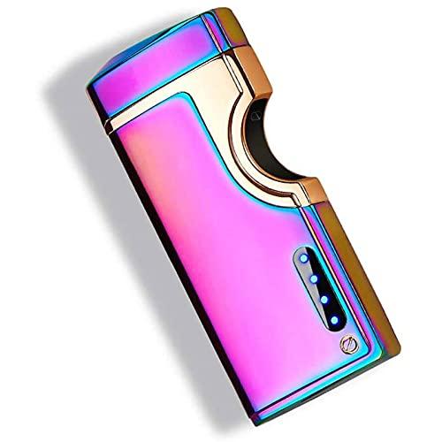 ZLZNX Mechero Electrónico, Encendedor de Arco Eléctrico Recargable USB Encendedor a Prueba...