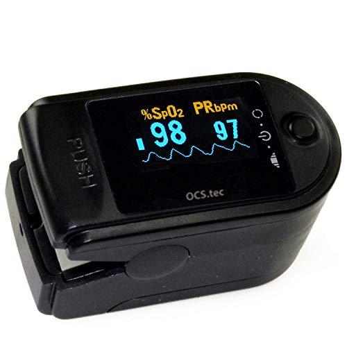 Fingerpulsoxymeter Pulsoximeter Oxymeter EKG Oximeter Pulsmesser Pulsuhr Herzschlag Sauerstoffsättigung Sp02 OM1