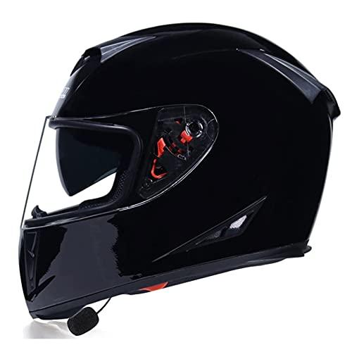 LIRONGXILY Casco Moto Modular Casco Moto Modular Bluetooth Casco Integral con Doble Visera Mujer Adultos para Scooter Biker Mofa Crash Cruiser Chopper ECE Homologado (Color : #8, Size : 60-61