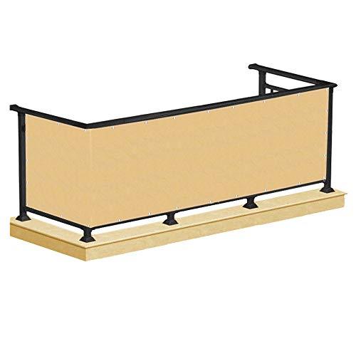 SPRINGOS Balkon Sichtschutz 0,9 x 7 m Grau Beige Sichtschutzmatte Windschutz Sichtblende Balkonverkleidung Blickdicht (Beige)