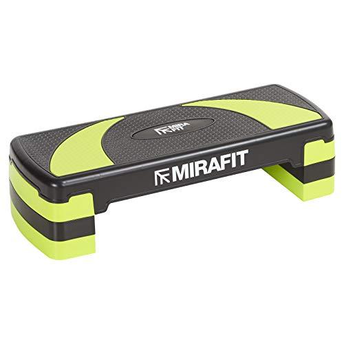 Mirafit - Step da aerobica 3 livelli - nero/verde