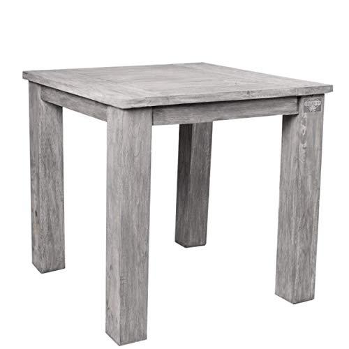 STRANDGUT07 tafel ca. 75×75×75 cm, tuintafel teak, grey wash
