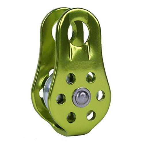 MaylFre Tragbares Outdoor-Klettern Pulley Klettern Feste Bergseil Klettern Pulley Sicherheit Außen Werkzeuge Aufsteigende Geräte Grün 1pc