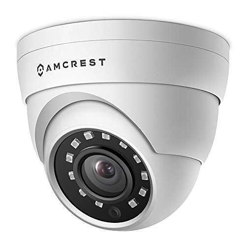 Amcrest UltraHD 4MP HD-Analog Dome Outdoor Security Camera, 4MP 2688x1520, 65ft Night Vision, IP67 Weatherproof Metal Housing, 2.8mm Lens, 99.7° Viewing Angle, 4MP @15fps, White (AMC4MDM28-W)