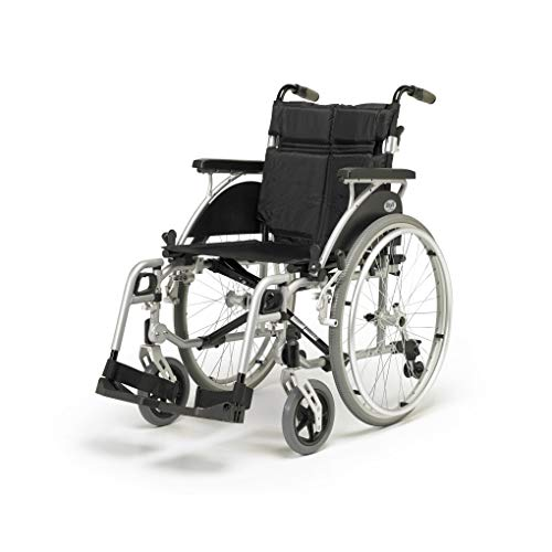 Days Link Self Propelled Wheelchair, 38 cm (15 in.), Lightweight, User-Friendly, Durable, & Height Adjustable Transfer Chair, Elevating Leg Rests, Wheel Positioning (Eligible for VAT relief in the UK)