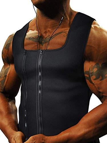 Goldenstarsport Neoprene Sweat Vest for Men Workout ~ Unique Two Zippers System - Large