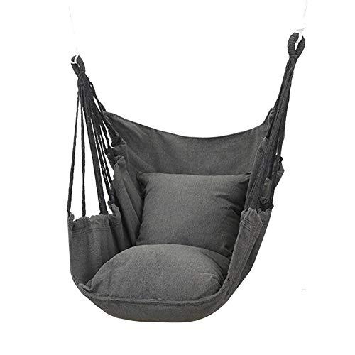 Hängemattenstuhl 250KG Kapazität Großer Hängesessel Relax Hanging Swing Chair Baumwollgewebe für überragenden Komfort und Langlebigkeit Perfekt für Innen- und Außenbereiche Schlafzimmer Schlafzimmer