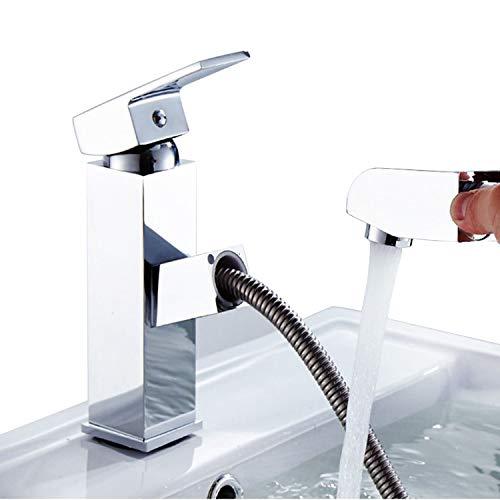 LAZAJ Grifos De Cocina/Baño Extraíbles Con 2 Modos De Rociado Grifo Con Arco Alto De Una Sola Manija Mezclador De Agua Fría Y Caliente Grifo De Agua