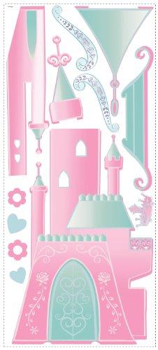 Fun House - 712012 - Ameublement et Décoration - Sticker Geant Disney - Princesse Castle W/ Personnalisation