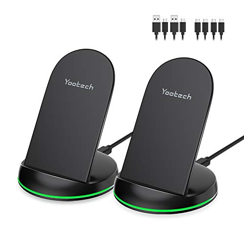 Yootech [2 Pack] Wireless Charger Qi-Certified 10W Max Wireless Charging Stand, Compatible with...