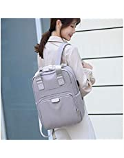 Men and women waterproof backpacks USB charging function fashion Oxford cloth fabric backpack 13 15 inch laptop bag travel backpack حقيبة سفر (Color : White, Size : 14 inch)