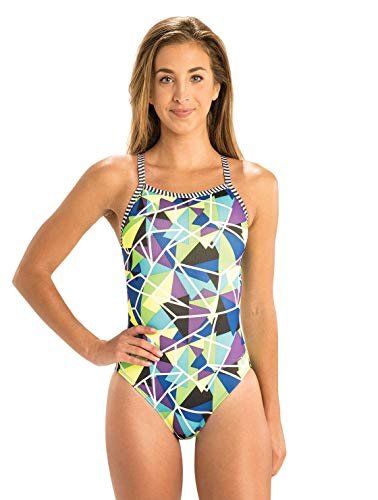 Dolfin Women's Uglies V-2 Back One Piece Swimsuit (Rock Candy, 30)