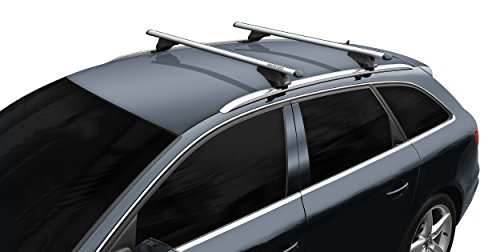 BB-EP-Menabo Fácil Aluminio Baca 90303659para Audi A3Sportback (8va) con Techo integrada (bündige Carril) para Arco en U Montaje o T-Nut Montaje con 20mm de Ancho