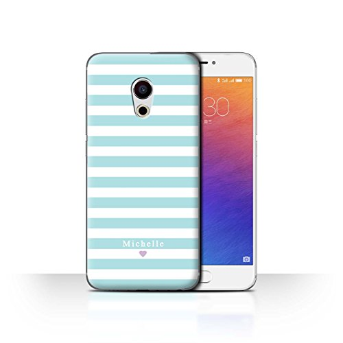 Stuff4 Phone Case/Cover/Skin/mzupro6/Custom Stripes/Striped Collection Coeur Rayure Bleu