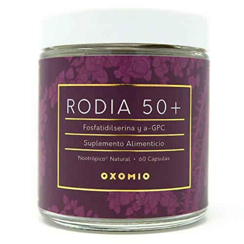 Rodia 50+ de Oxomio - Nootropico diaro en capsulas para proteccion mental y memoria de adultos mayores (60 cápsulas)