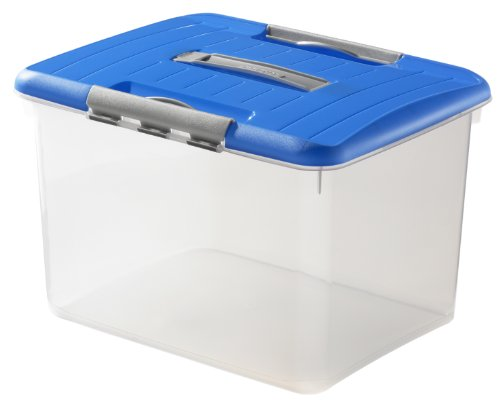 CURVER Optima Transport-Box m.Deckel blau 43x34x28cm 30 L VE=1