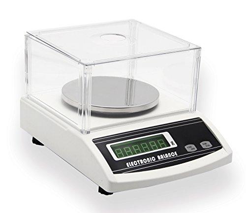 NEWTRY 0.01g Balanza de Precisión Eléctrica Báscula (Ya Calibrada )(3000g, 0.01g)