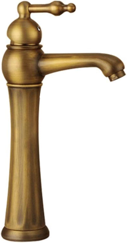VSousT Europischen Stil Antike Kupfer Wasserhahn Retro Waschbecken Einzelne Halterung Rotierenden Wasserhahn Heien Und Kalten Waschbecken Wasserhahn