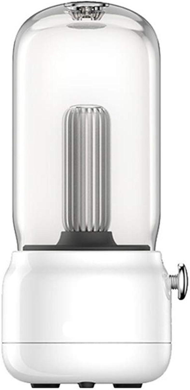 LL-Enyoyy Kreative Tischlampe, Exquisite Form, Zwei-Geschwindigkeits-Modus, bewegliche Lichtquelle, Dual-Mode-Aufladung, Lesen von Auenatmosphre Lampe,Weiß