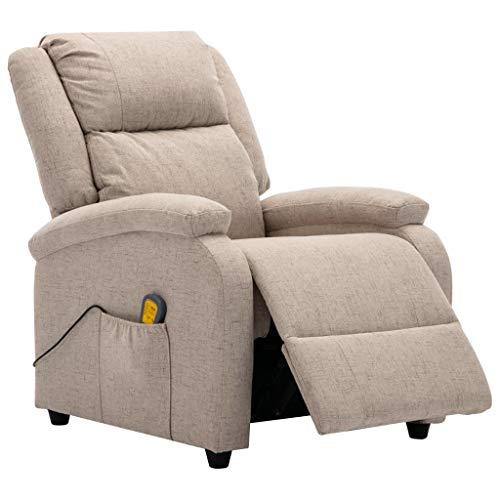 Tidyard Elektrischer Massagesessel Stuhl Liegestuhl Mit Heizfunktion & 8 Massagepunkte,Fernsehsessel Relaxsessel 3 Intensitätsstufen,5 einstellbare Modi,Liegesessel,Rückenlehne Fußstütze Verstellbar