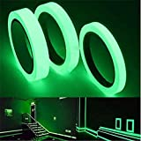Breewell Removable, Waterproof, Photoluminescent Glow in The Dark Safety Green Tape | 30 feet /...