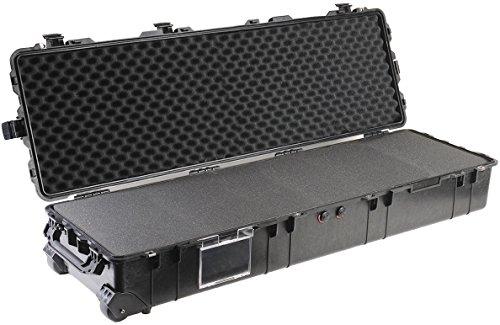 PELI 1770 Maleta protectora para trípodes y otros equipos alargados, IP67 estanca e impermeable al polvo, 120L de capacidad, fabricada en EE.UU., con espuma personalizable, color negro