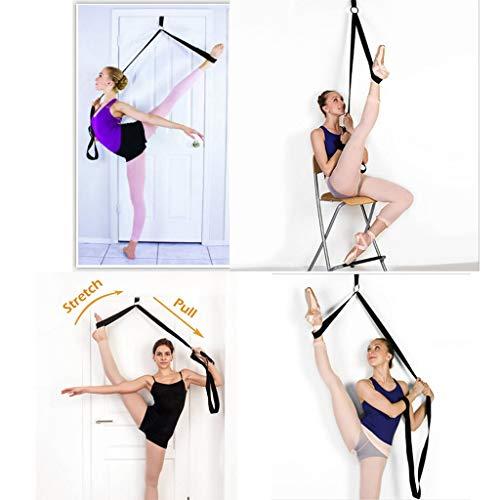 XBKPLO Adjustable Leg Stretcher Lengthen Ballet Stretch Band - Easy Install on Door Flexibility Stretching Leg Strap Great Cheer Dance Gymnastics Trainer Stretching Equipment