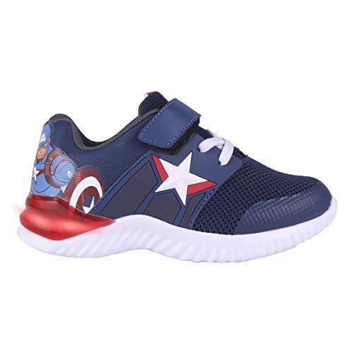 Cerdá Life'S Little Moments Zapatillas con Luces para Niños de Avengers con Licencia Oficial Marvel, Deportivas, Multicolor, 32 EU