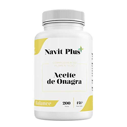 Aceite de Onagra 10% GLA + Vitamina E NAVIT PLUS | 200 perlas para reducir el dolor...