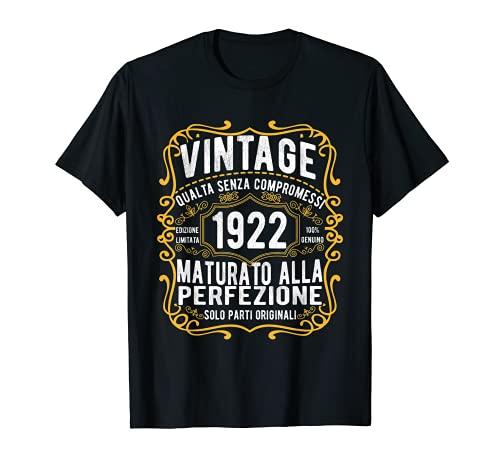 Vintage 1922 regalo divertente 99 anni compleanno Maglietta Maglietta