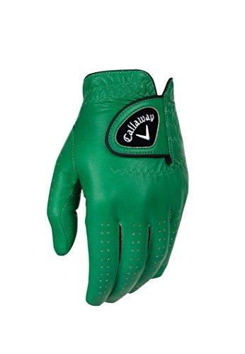 Callaway Golf-Handschuhe für Herren, OptiColor, Leder, Grün, Größe S