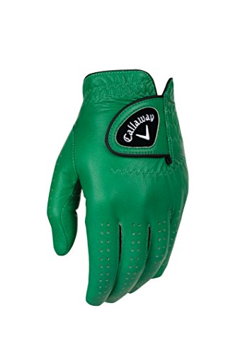 Callaway Golf-Handschuhe OptiColor, Leder, Grün, Cadet X-Large, Links getragen