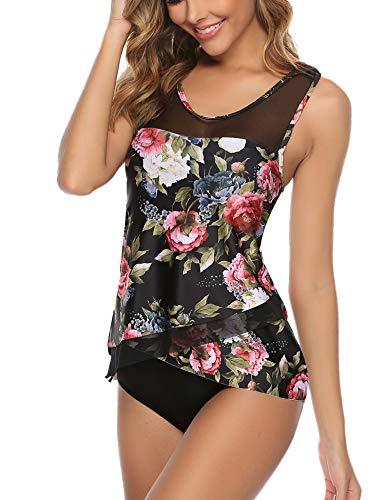 Aibrou Top Sportivo Tankini delle Donne Bikini a Fascia di Impostare Due Pezzi Costume da Bagno Beachwear