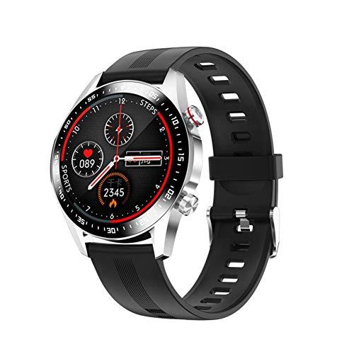 JIAJBG Reloj Elegante Noble E12 Teléfono Bluetooth Smartwatch Hombre Movimiento Impermeable Medida de la Presión Del Ritmo Cardíaco Del Sueño Sangre Mujeres de Los Relojes regalo de