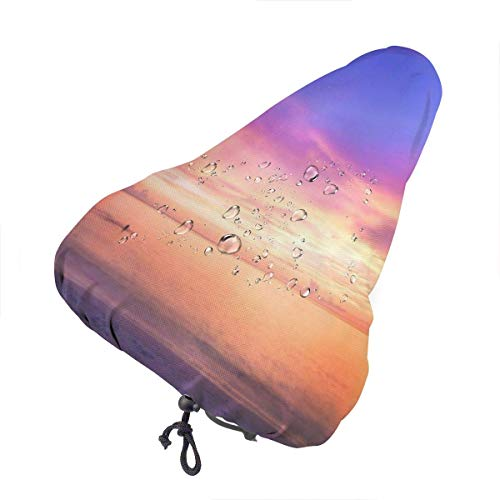 Bike Seat Cover The Sunset in Miami Water Dust Resistant Cover Bike Universal Gel Seat Cushion Cover Protective Bicycle Saddle Cover for Cycling - Rain, Dust,Wind, Sun
